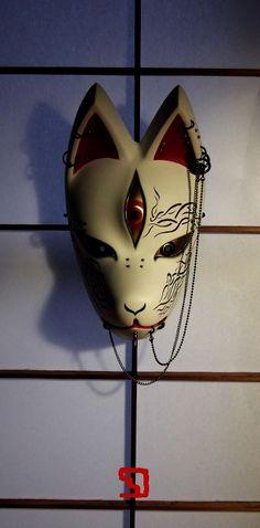 幻狐面ギャラリー Kitsune Mask, Oni Mask, Fantasy Inspiration, Tattoo Inspiration, Japanese Fox Mask, Helmet Head, Artist Supplies, Mask Ideas, Leather Mask