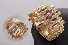 K14ダイヤリング、幅14.8mm, 11.2g