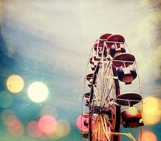 bokeh, wheel and skies