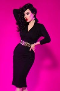 Pinup Couture Strange Love Black Pencil Dress 100 10 16867 7