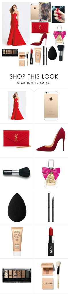 """Red dress😍😍"" by lovepink75 ❤ liked on Polyvore featuring Madison James, Yves Saint Laurent, Laura Mercier, Juicy Couture, beautyblender, Burberry, Miracle Skin Transformer, Boohoo and Bobbi Brown Cosmetics"