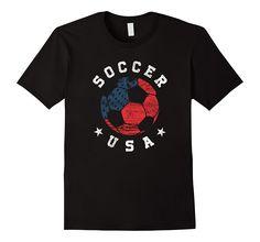Soccer American Flag Gift Team T-Shirt, only $19.99