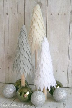 Christmas trees made with foam or paper cones