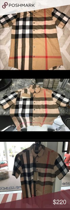 Price reduced! 🔥 New Authentic Burberry shirt. Brand New Authentic Burberry short sleeve button down slim fit shirt with tags on it. Very classy and thin material. Burberry runs smaller. The size says XL, but it fits like a Large. Offers welcomed, just not low balls. No trades. Much appreciated! Let me know if you have questions. Burberry Shirts Casual Button Down Shirts