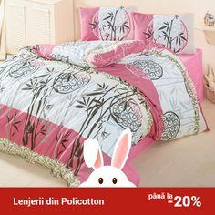 Lenjerie de pat din policotton Elena VKP10 Bambu Roz