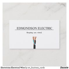 Shop Electrician Electrical Wire Business Card created by sm_business_cards. Spain Country, Electrical Wiring, Card Templates, Business Cards, Logo Design, Wire, Things To Come, Cards Against Humanity, Carte De Visite