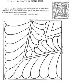 Many vintage quilting patterns