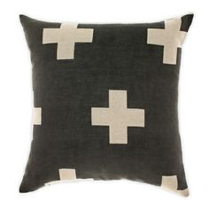 Crosses cushion in Linen