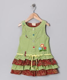Take a look at this Lime Ruffle Tiered Dress - Infant, Toddler & Girls by the Silly Sissy on #zulily today!
