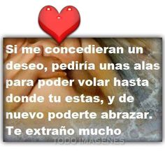 Mi mami, te extraño! Timeline Photos, Signs, Type 1, Quotes, Decor, Facebook, Frases, Miss You, Wings