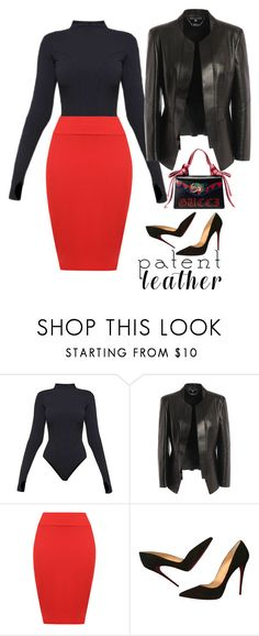 """""""Untitled #1135"""" by pamela-802 ❤ liked on Polyvore featuring Ivy Park, Alexander McQueen, WearAll, Christian Louboutin, Gucci and patentlehater"""