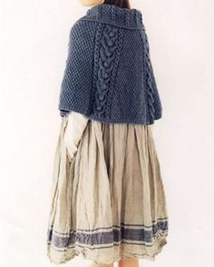 linacée 二 linen allure style look irish charming knitted accessories Japanese Craft Book (In Chinese). Moda Natural, Bolero, Fashion Mode, Knitting Accessories, Mori Girl, Yohji Yamamoto, Knitted Shawls, Pulls, Knitting Patterns
