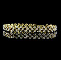 "Jacqueline Kennedy Yellow Gold GP Reproduction Adj. 6.75"" Tennis Bracelet Y031 #JacquelineKennedy #Tennis"