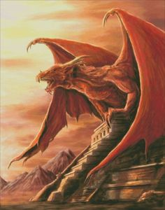 The mighty dragon Armageddon perches atop the Mayan temple as he prepares to rain destruction. Mythological Creatures, Fantasy Creatures, Mythical Creatures, High Fantasy, Fantasy Art, Cool Dragons, Dnd Dragons, Dragon Pictures, Dragon Images