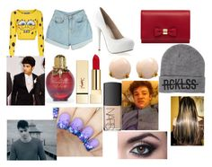 """Christmas with Zayn"" by larryandtarillforeverr14 ❤ liked on Polyvore featuring Moschino, Mulberry, Young & Reckless, Henry Dunay, NARS Cosmetics and PUR"