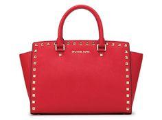 Michael Kors Selma Bag red studded
