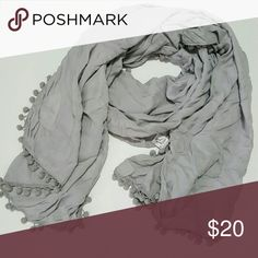 """April Marin Lightweight Shawl Beautiful! Light gray. No stains. Dimensions are 26"""" x 75"""" April Marin Accessories Scarves & Wraps"""