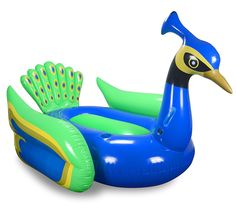 This thing is HUGE! Do as a peacock would and float around the pool in all of your beauty & opulence . The Peacock Pool Float stands tall with vibrant colors that attract the attention of everyone aro
