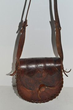 Patched Leather Boho Hippy Bag Purse $75 - QuirkyFinds.com