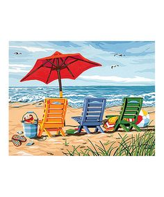 Love this Beach Chair Trio Paint by Numbers Kit by PaintWorks on #zulily! #zulilyfinds