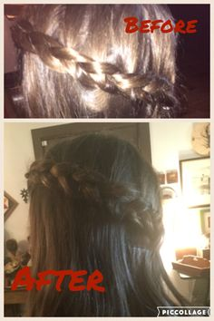 This is the hairstyle that I did to my sis.
