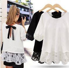 Find More Blouses & Shirts Information about 2015 plus size 5XL women chiffon blouses chiffon lace stitching short sleeved chiffon shirt bow bottoming shirt female lace top,High Quality lace polish,China shirt lace Suppliers, Cheap lace bedskirt from >>Guangzhou Fashion Clothes Store<< on Aliexpress.com