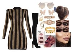 """""""😍😍😍"""" by msroro12 ❤ liked on Polyvore featuring BP., Balmain, Latelita, Quay, Charm & Chain, Jennifer Lopez and Casetify"""