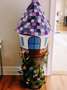 Staggeringly awesome Rapunzel's tower bridal shower centerpiece.