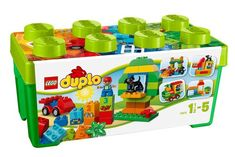 Preschool children will love to build and create amazing adventure playgrounds with this LEGO Duplo Large Playground Brick Box 10864 Setl. It includes fun LEGO DUPLO bricks, includ Lego Duplo, Lego Ninjago, Lego Technic, Duplo Box, Toddler Preschool, Toddler Toys, Kids Toys, Shop Lego, Buy Lego