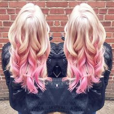 Platinum blonde with pink highlights!!!! In love