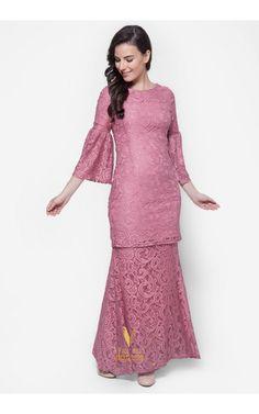 Baju Kurung Moden Lace - Vercato Nora in Dusty Pink