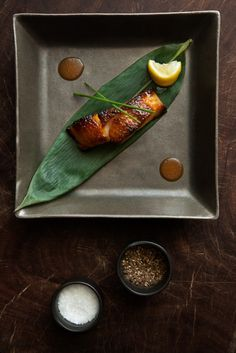 Blackened Cod - See the new promotional book we created out of the huge amount of delicious food we photographed for chef Sébastien Cassagnol and chef Andras Arvay at THE CHEDI, MUSCAT http://weeattogether.com/the-chedi-muscat-oman/