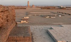 Great Temple of Aten, Tell el Amarna, Egypt. Here Akhenaten almost single handedly brought down the empire by dismissing the polytheistic religion of Ancient Egypt for a monotheistic one. Of course he was also nuts.