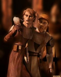 Clone Wars: before Anakin and Obi-Wan were enemies. Star Wars Rebels, Star Wars Clone Wars, Star Wars Art, Star Trek, Anakin Obi Wan, Anakin Skywalker, Old Best Friends, Close Friends, Starwars