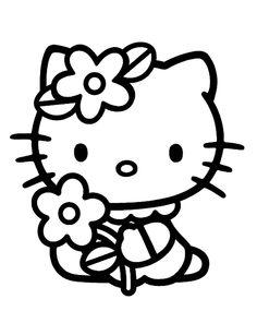 ausmalbild hello kitty   helper und vorlagen   pinterest   ausmalbilder, ausmalen und malvorlagen