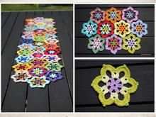 Once crocheted, you can't stop. Now it will be colorful in your garden! Let colours speak and decorates your table in Mandala Style! Whether it's runners, coasters or placemats: you can combine as you wish. The pattern includes a crochet chart and many d Crazy Patterns, Mug Rug Patterns, Mandalas Painting, Mandalas Drawing, Crochet Chart, Free Crochet, Crochet Patterns, Crochet Hat For Women, Crochet Baby Hats