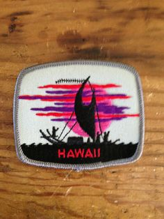 Hawaii Vintage Travel Patch by Voyager by HeydayRetroMart on Etsy, $5.50