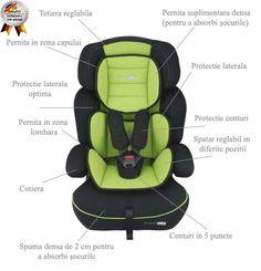 Scaun auto FreeMove Green, BabyGO - Sabedoria