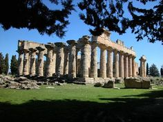Cyrene, Libya.  A colony of the Greeks of Thera, Cyrene was one of the principal cities in the Hellenic world. It was Romanized and remained a great capital until the earthquake of 365. A thousand years of history is written into its ruins, which have been famous since the 18th century.