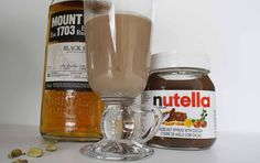 Easy & decadent! Nutella and Cardamom Rum #Cocktail #hottoddy #rum #nutella