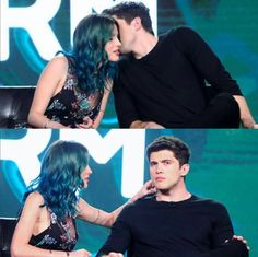 """""""Is there anything on my face?! -Carter Jenkins to Bella Thorne The Famous in Love family has to look out for one another. <3"""