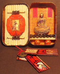 Japanese Buddhism Mini Shrine - Tin Box - Pocket Shrine For Travel & Meditation…