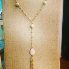 The Brantley Necklace - The Brantley is made with hand wired pearls and features a tassel to give it that extra beauty for that special outfit. $72.00