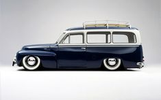 nice (custom) wagon... only thing better on the roof would be board rack!  I had a '53 Chevy wagon that kinda looked like this - if you squinted :-)