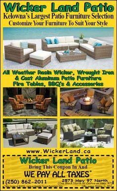 Wicker land patio in Kelowna, BC
