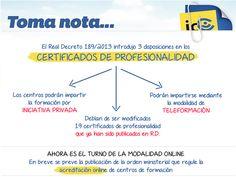 Toma nota: Acreditación para impartir online los certificados de profesionalidad