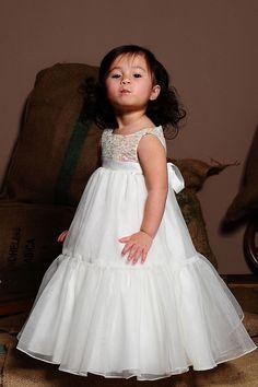 Empire Waistline A-line Flower Girl Dress with Sequins