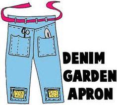 denim recycle gardening apron -