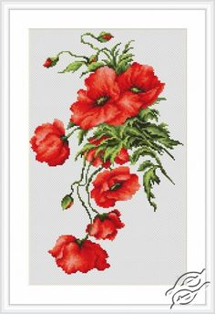 Poppies - Cross Stitch Kits by Luca-S - B2236