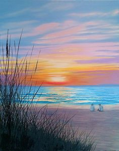 Naples sunset oil painting on canvas wall art # canvas . - Naples sunset oil painting on canvas wall art - Simple Oil Painting, Oil Painting On Canvas, Gouache Painting, Artist Painting, Painting People, Landscape Art, Landscape Paintings, Sunset Canvas, Beach Sunset Painting